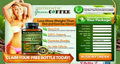 Connies Health, Green Coffee weight loss supplement.